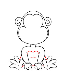 How To Draw A Cartoon Monkey Step 6