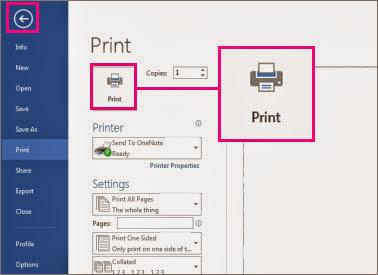 configuración antes de imprimir
