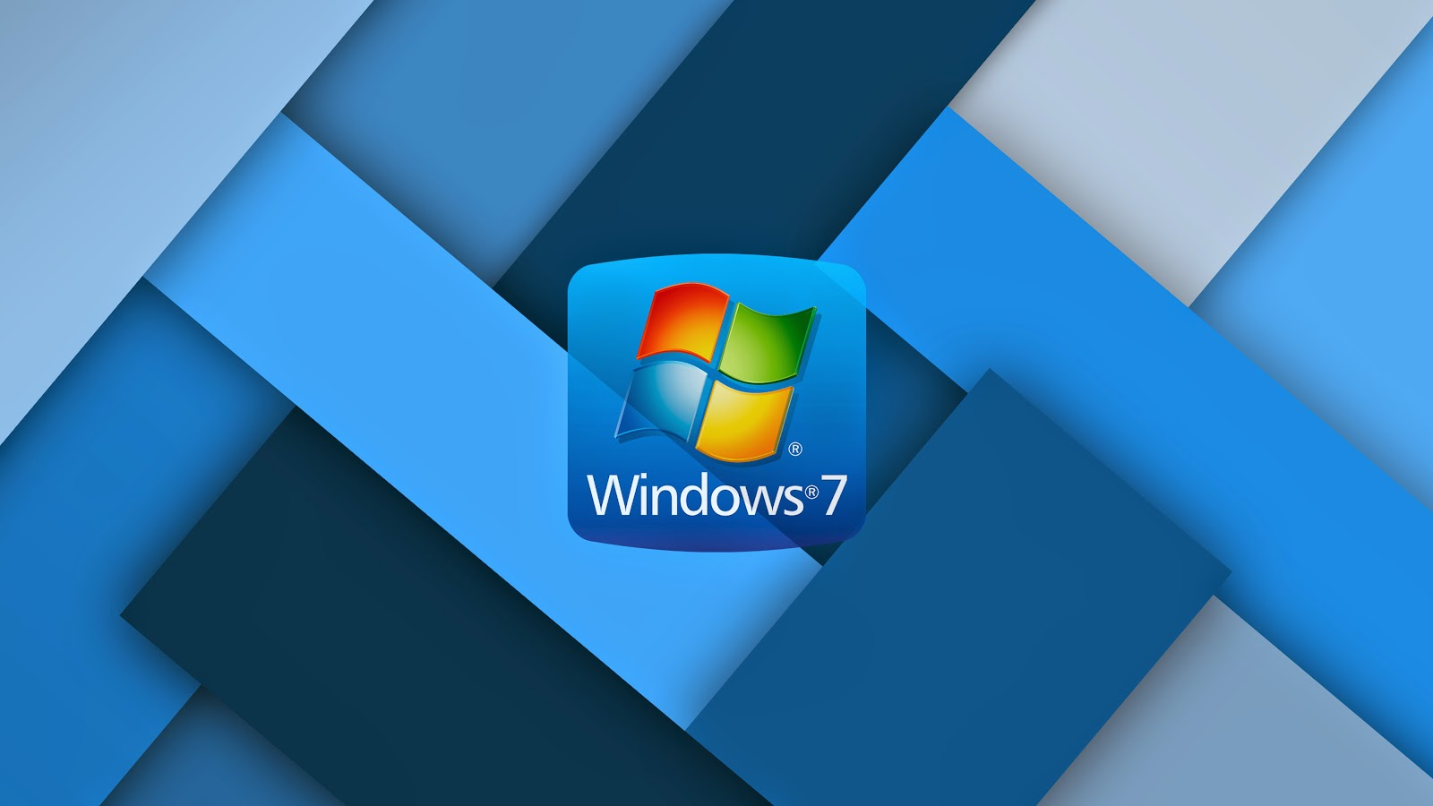 Blauen Windows 7 wallpaper