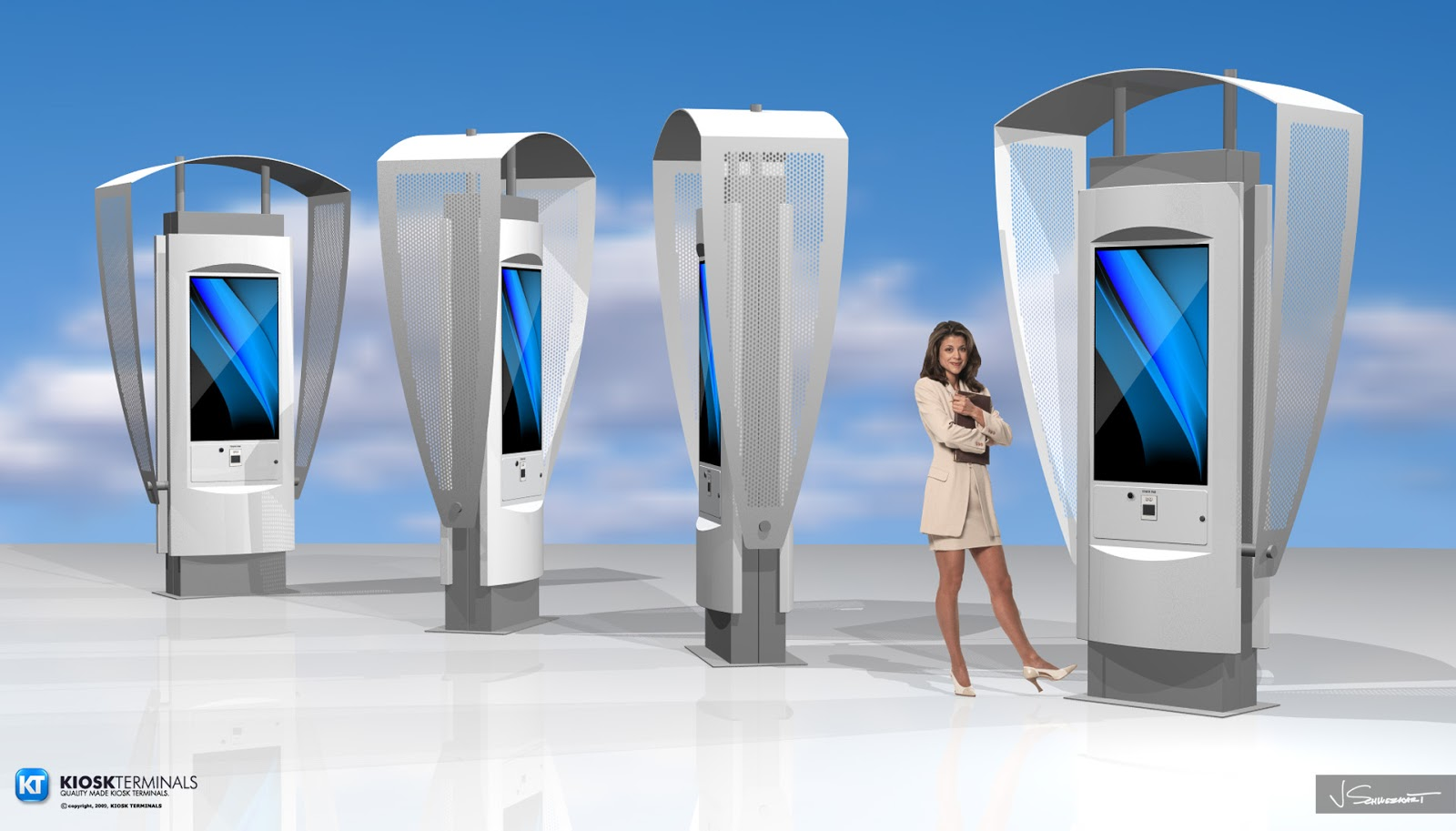Self service kiosks and digital signage digital signage for Exterior kiosk design