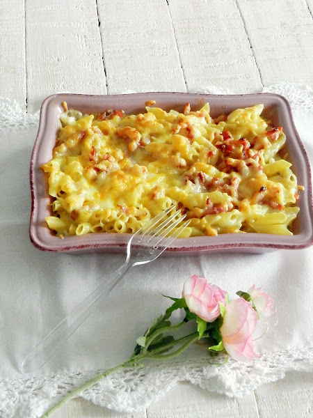Macarrones bacon cheese Foster