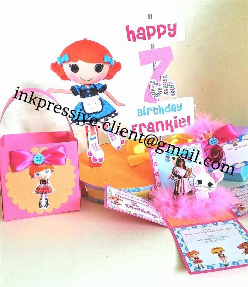 Table Centerpieces ~ Lalaloopsy party  sc 1 st  kiddie invitations - Blogger & Table Centerpieces ~ Lalaloopsy party | KIDDIE INVITATIONS