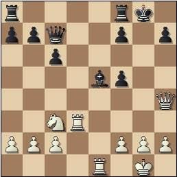 Partida Rico-Russel en el II Encuentro Ibérico de Ajedrez 1946, posición después de 17…f5