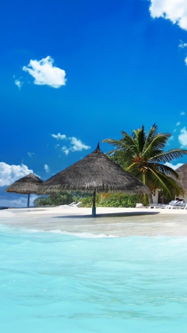 Free Download Beautiful Tropical Island Beach HD Wallpapers For IPhone 5