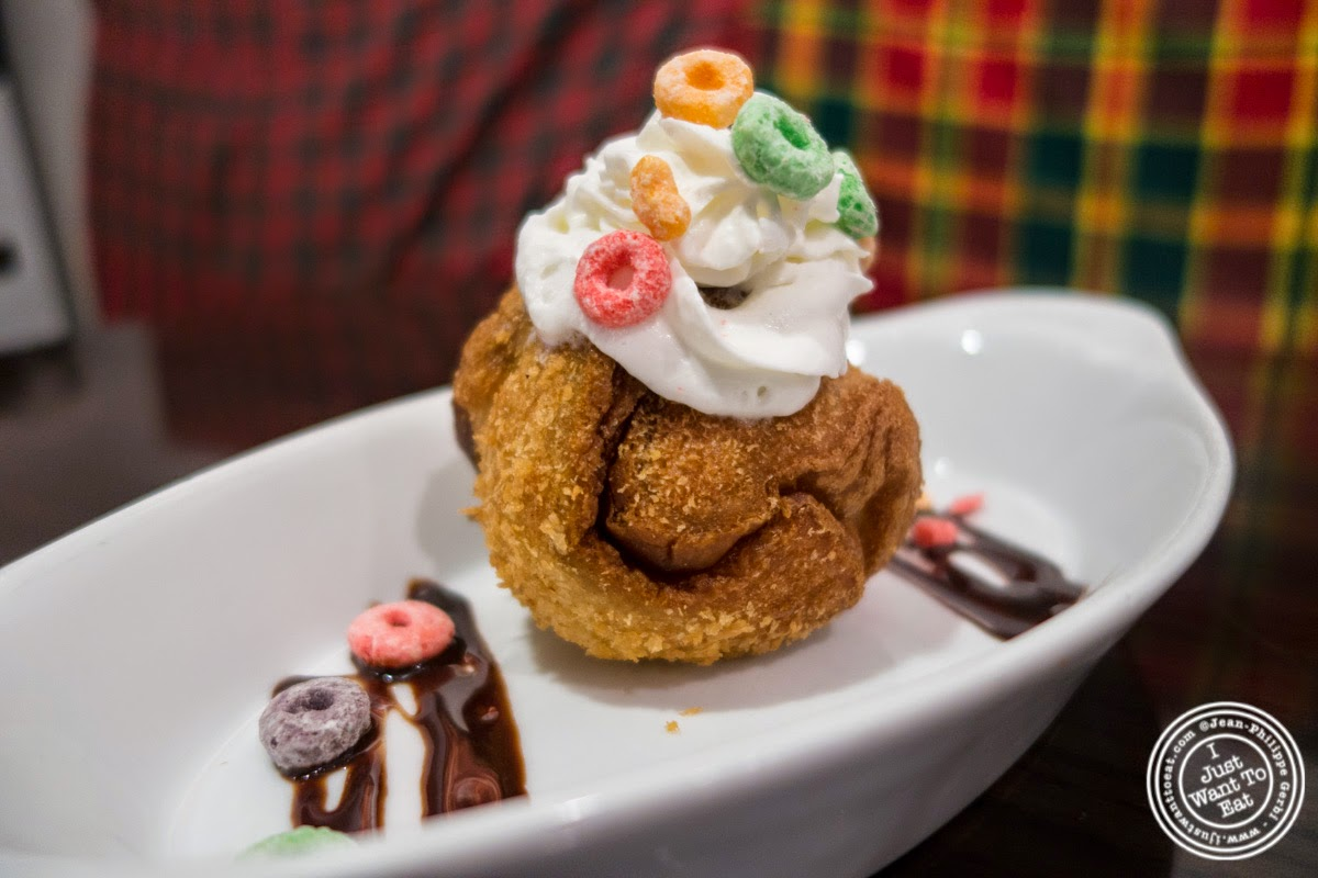 image of Fried Ice Cream at Larb Ubol, Thai restaurant in Hell's Kitchen, NYC, New York