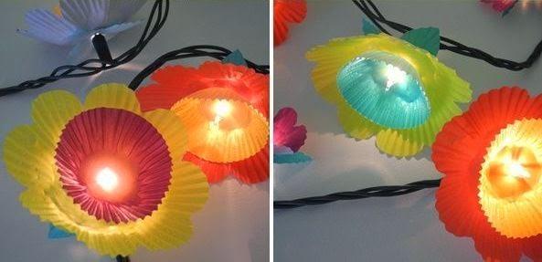 Cara Membuat Kerajinan Tangan Dari Kertas - Lampu Bunga Kertas 5