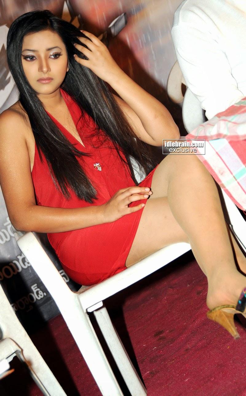 Swetha Basu red legs