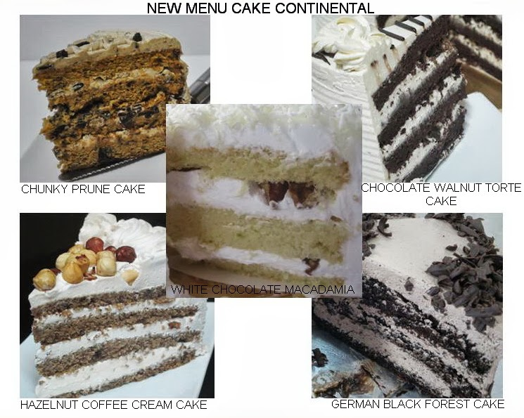 New Menu Continental Cake