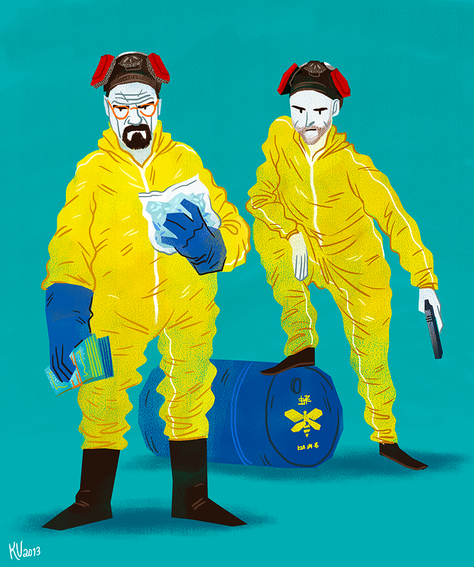 #Breaking #Bad #illustration #fanart # walter #white #jesse #pinkman #meth #cooking #drawing