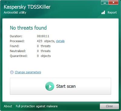 Kaspersky TDSSKiller 2.8 - Scanning Module