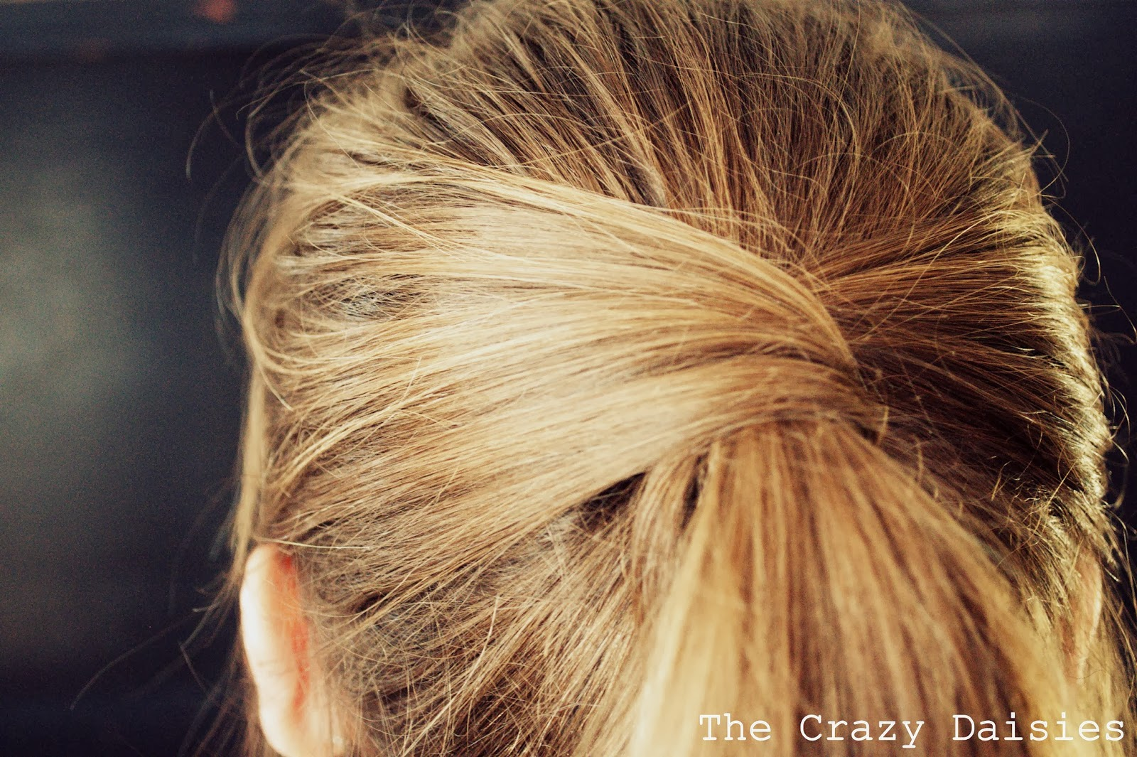 The Crazy Daisies DIY Crossover Ponytail - Diy ponytail wrap