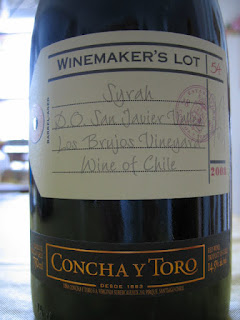 Concha y Toro Winemakers Lot 54 Syrah 2008