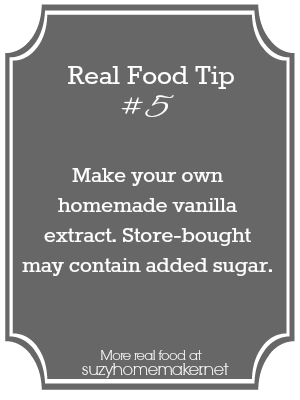 real food tip 5: vanilla extract - suzyhomemaker.net