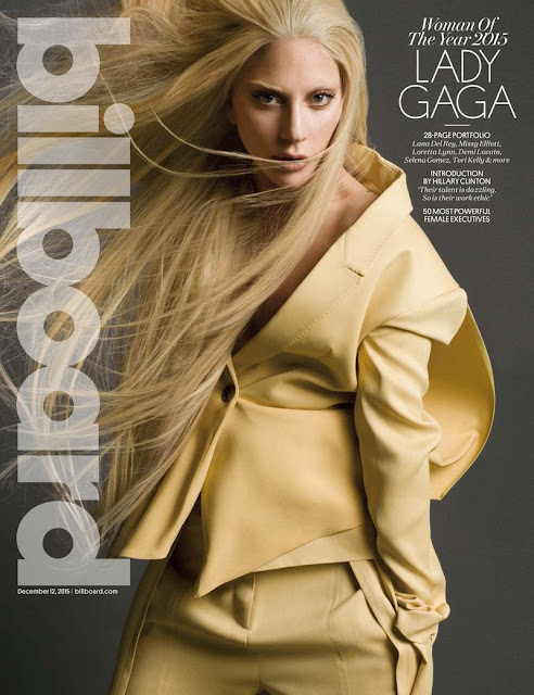 Singer, @ Lady Gaga - Billboard USA, December 2015