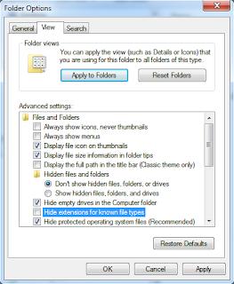 Setting Folder Options