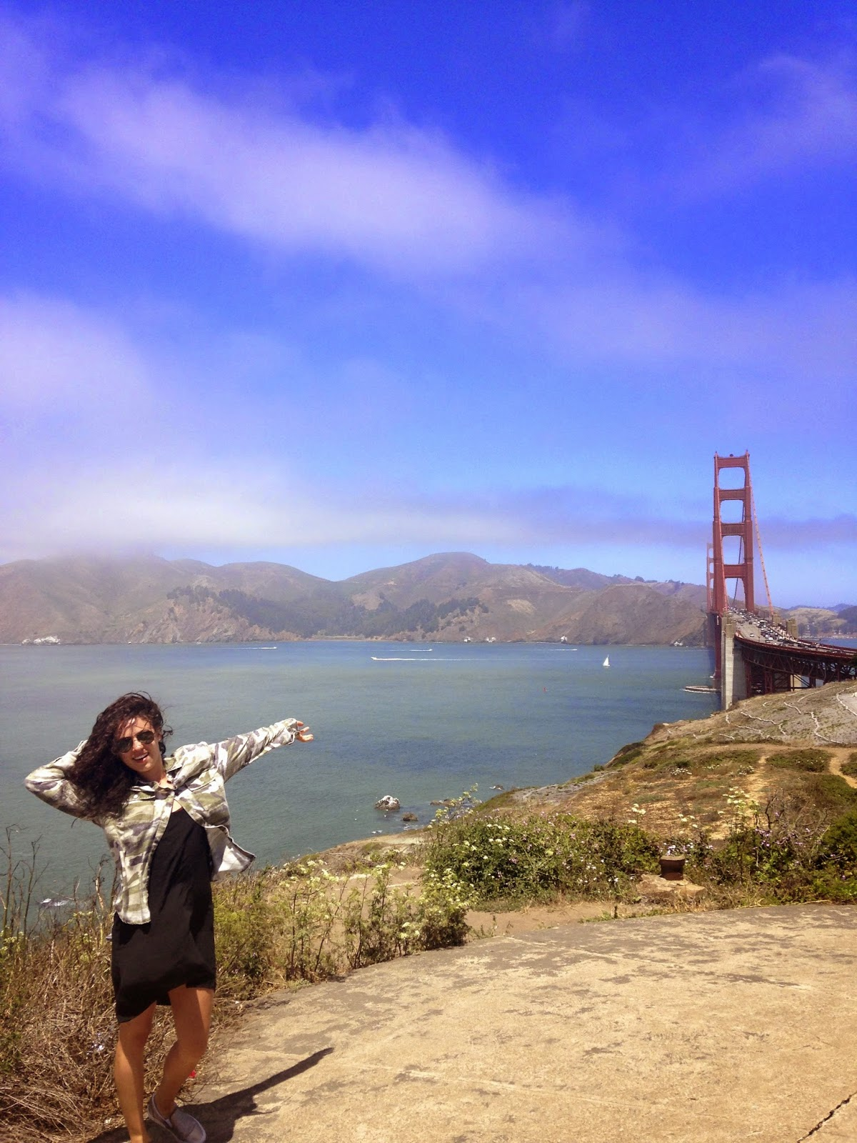 San Francisco golden gate bridge travel blog pacific coast highway cali dream California vaca camo ootd big hair summer