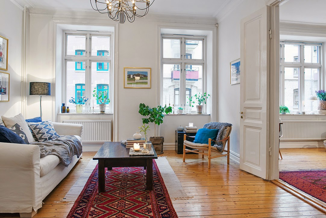 decoraci n f cil alfombras persas y estilo nordico