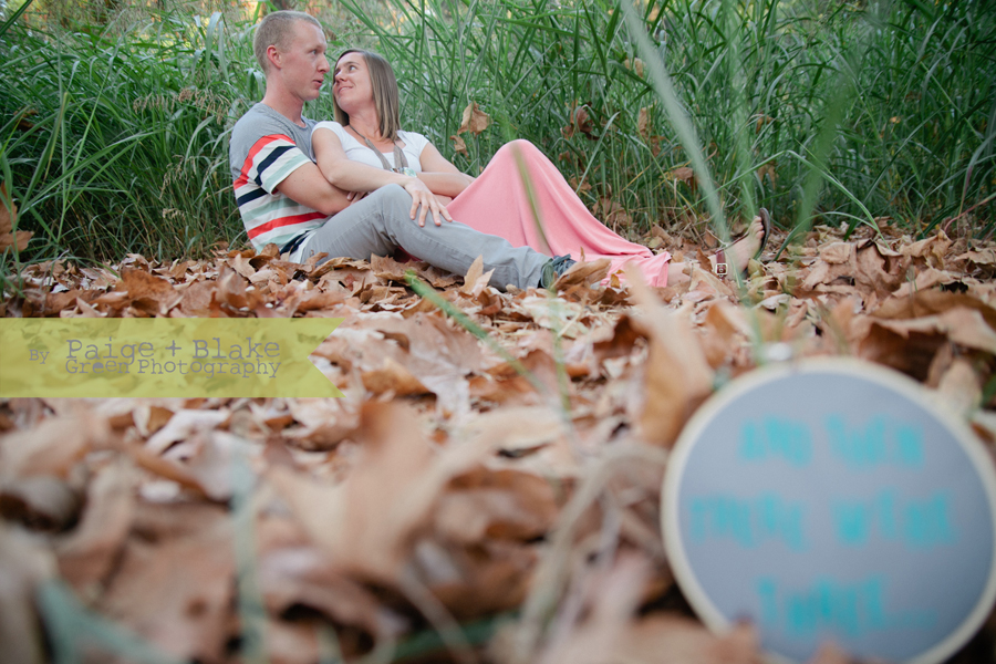 And Then There Were Three Prop Maternity Announcement  Photo by Paige and Blake Green
