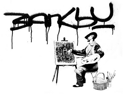 Banksy Graffiti Art Galleries Painting on canvas