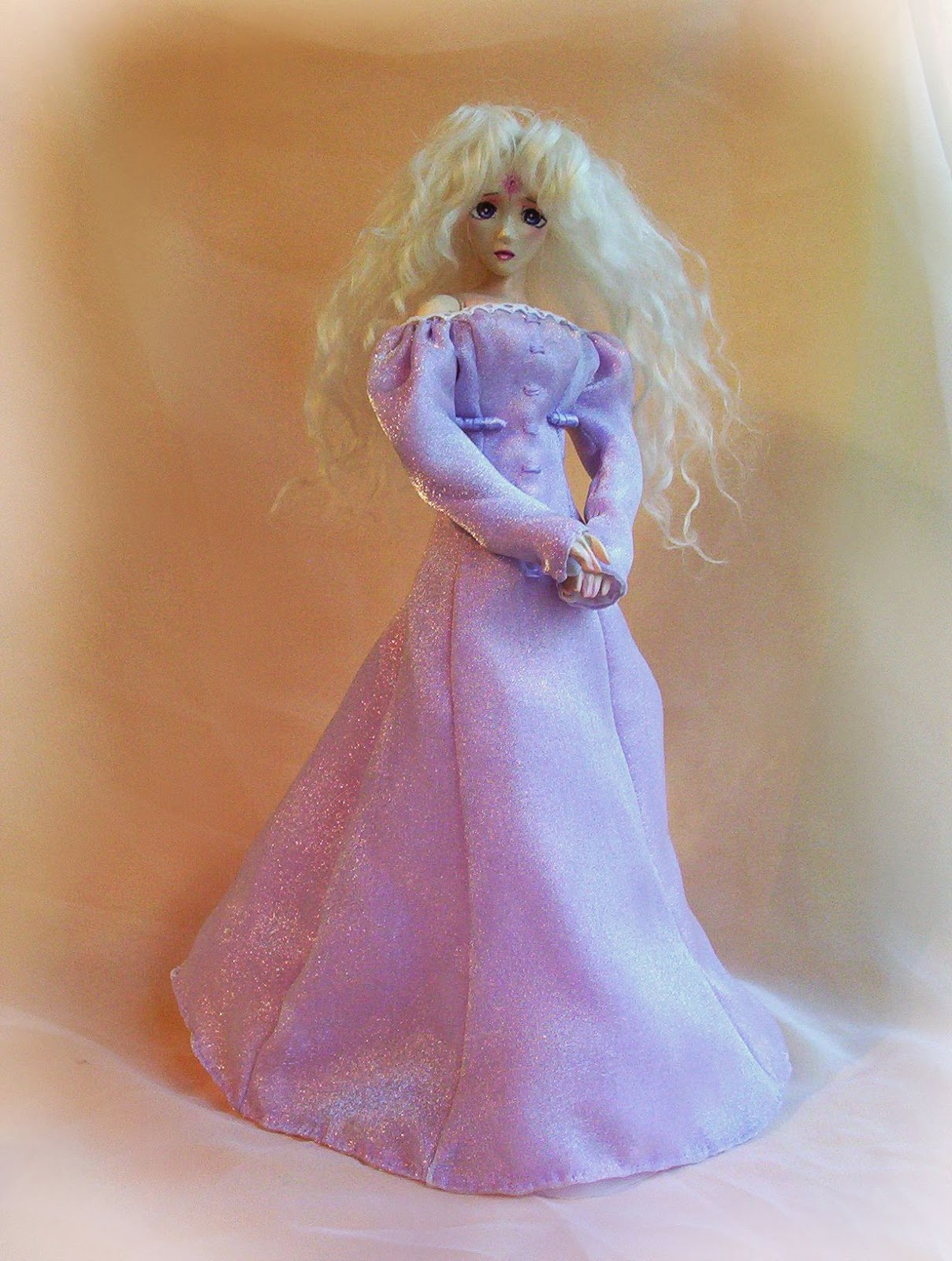 porcelain ball jointed doll last unicorn full costumed doll