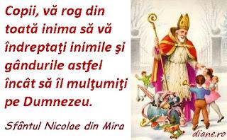 Maxima zilei: 5 decembrie 2015 / Sfântul Nicolae către copii