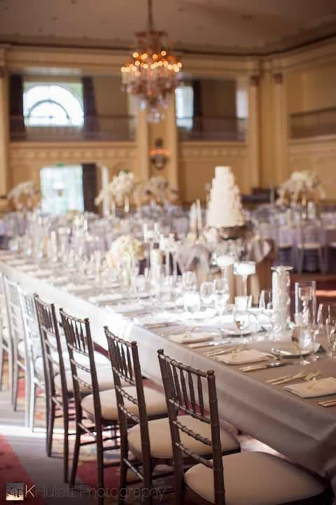 luxury wedding reception, Fairmont wedding, silver and white wedding