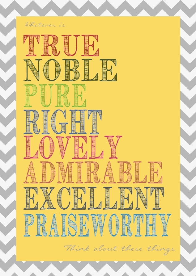Philippians 4:8 free printable