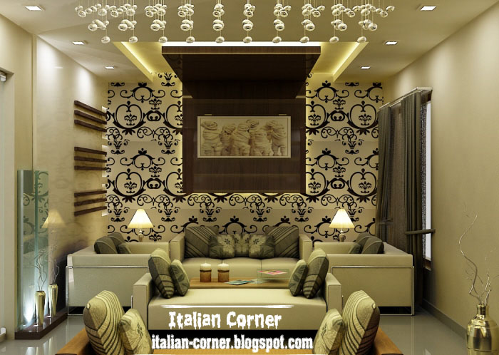 Modern italian living room designs with lighting ideas Living room ceiling lighting ideas