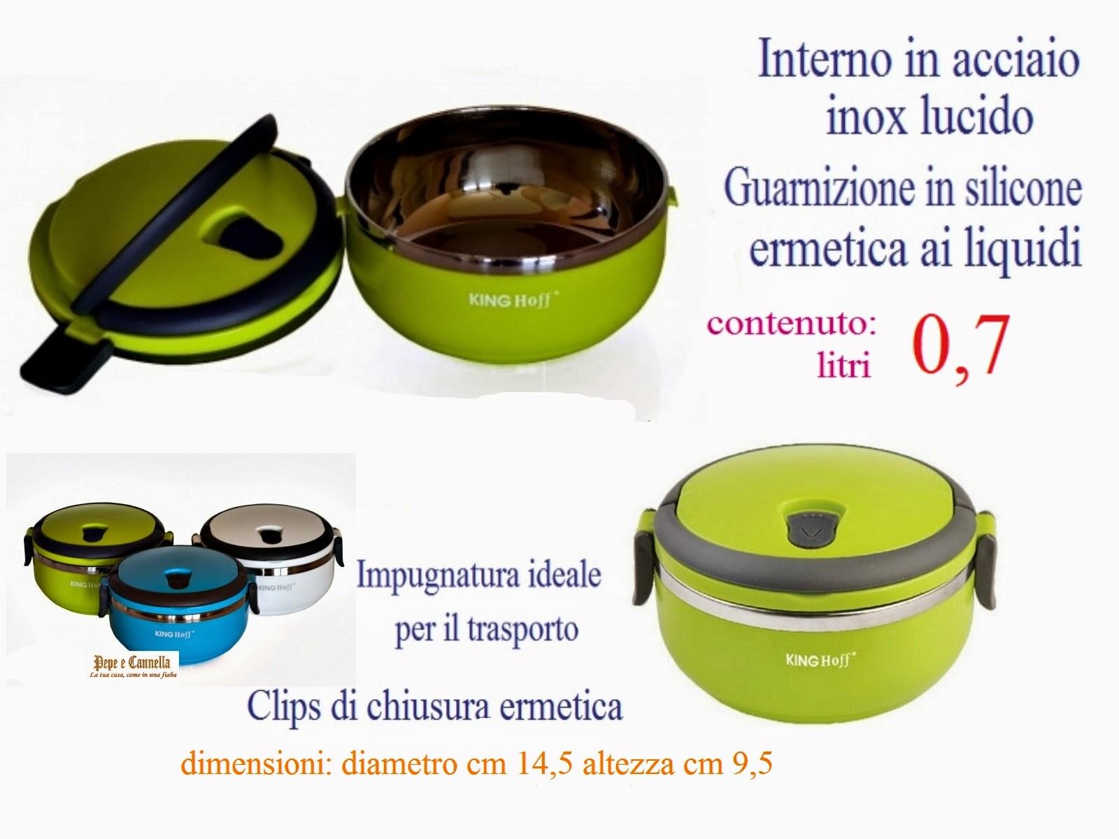 Portavivande thermos contenitore termico ermetico gamella for Portavivande termico