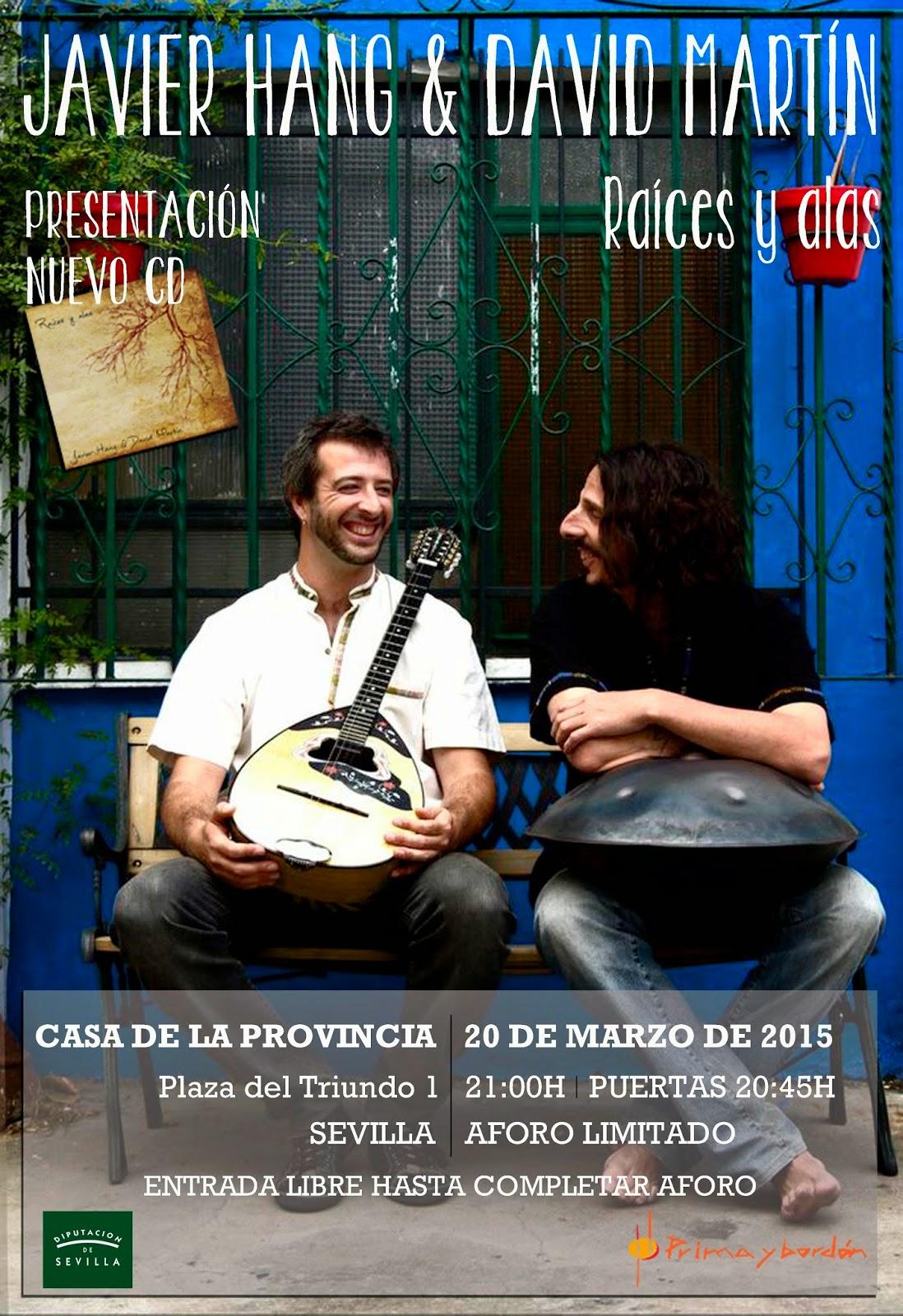 Javier Hang & David Martín. Casa de la Provincia. 20 de marzo. Entrada Libro.