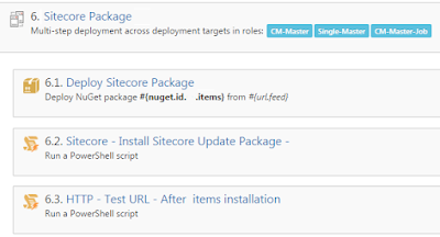 Sitecore Package Deployment STep which includes Sitecore Items