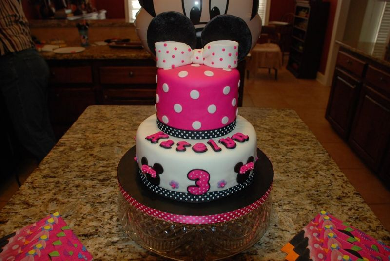 Pink Minnie Mouse Cake Idea