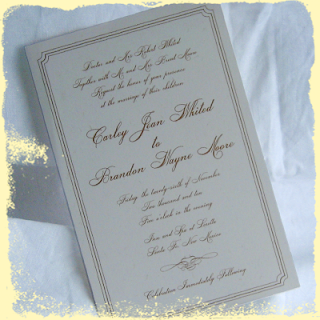 custom simple wedding invitations