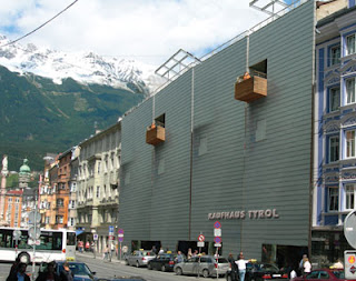 Kaufhaus Tyrol is a new modern shopping mall in Innsbruck Austria