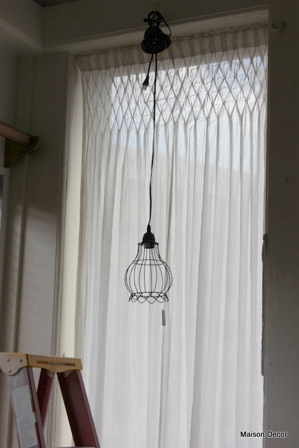 Maison decor shop series creating a garden display area for Curtain display ideas