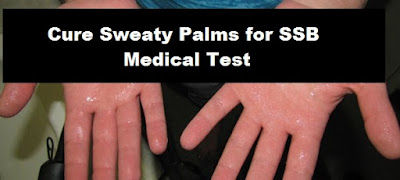 Cure Sweaty Palms for SSB Medical Test