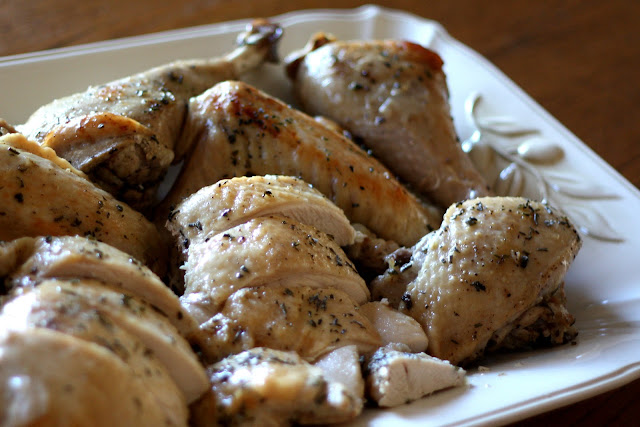 Roast Turkey with Wine and Herbs recipe by Barefeet In The Kitchen