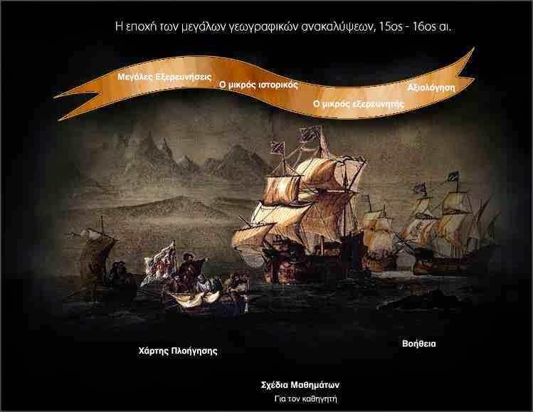 Η εποχή των μεγάλων ανακαλύψεων-ιστορια Στ' τάξης