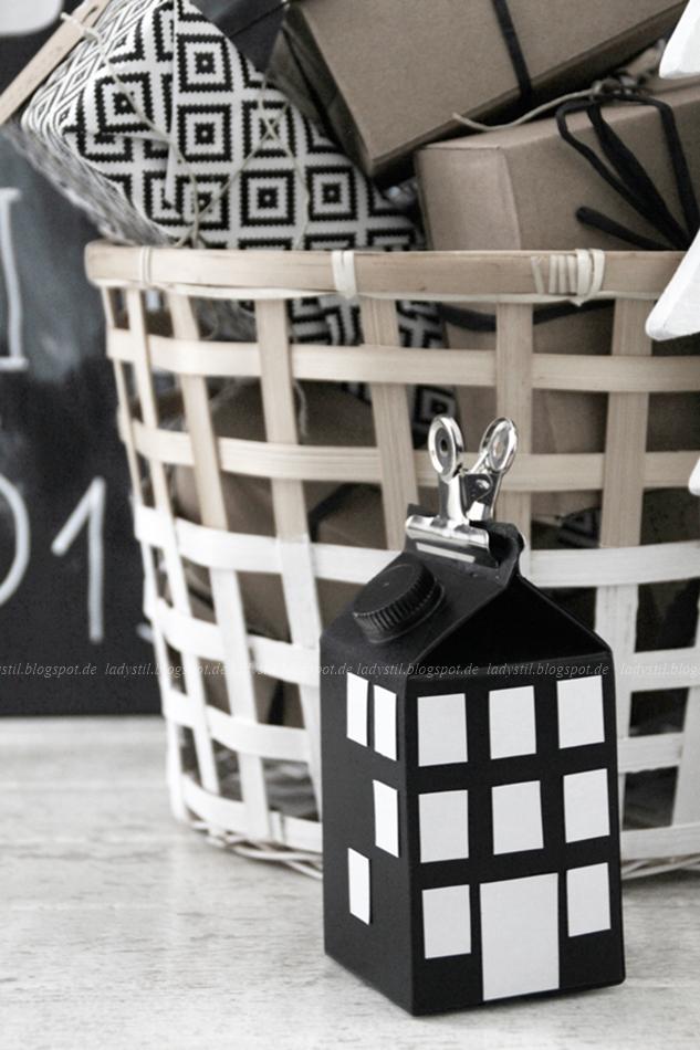 Lichthaus als Geschenkverpackung aus Mich tüte Milchverpackung