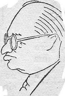 Caricatura de Alexander Alekhine