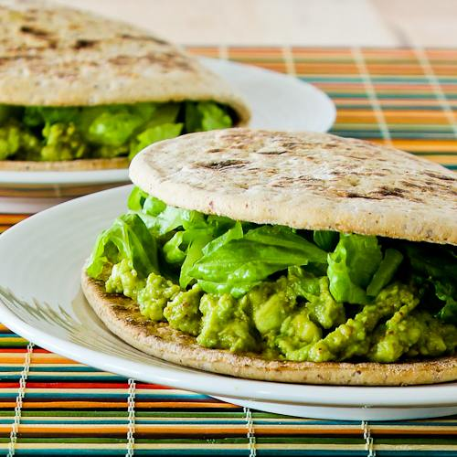 Spicy Avocado in Pita