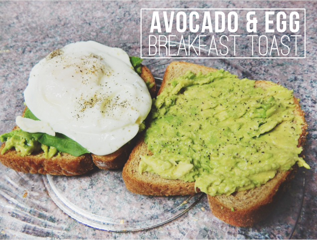 avocado and egg breakfast toast