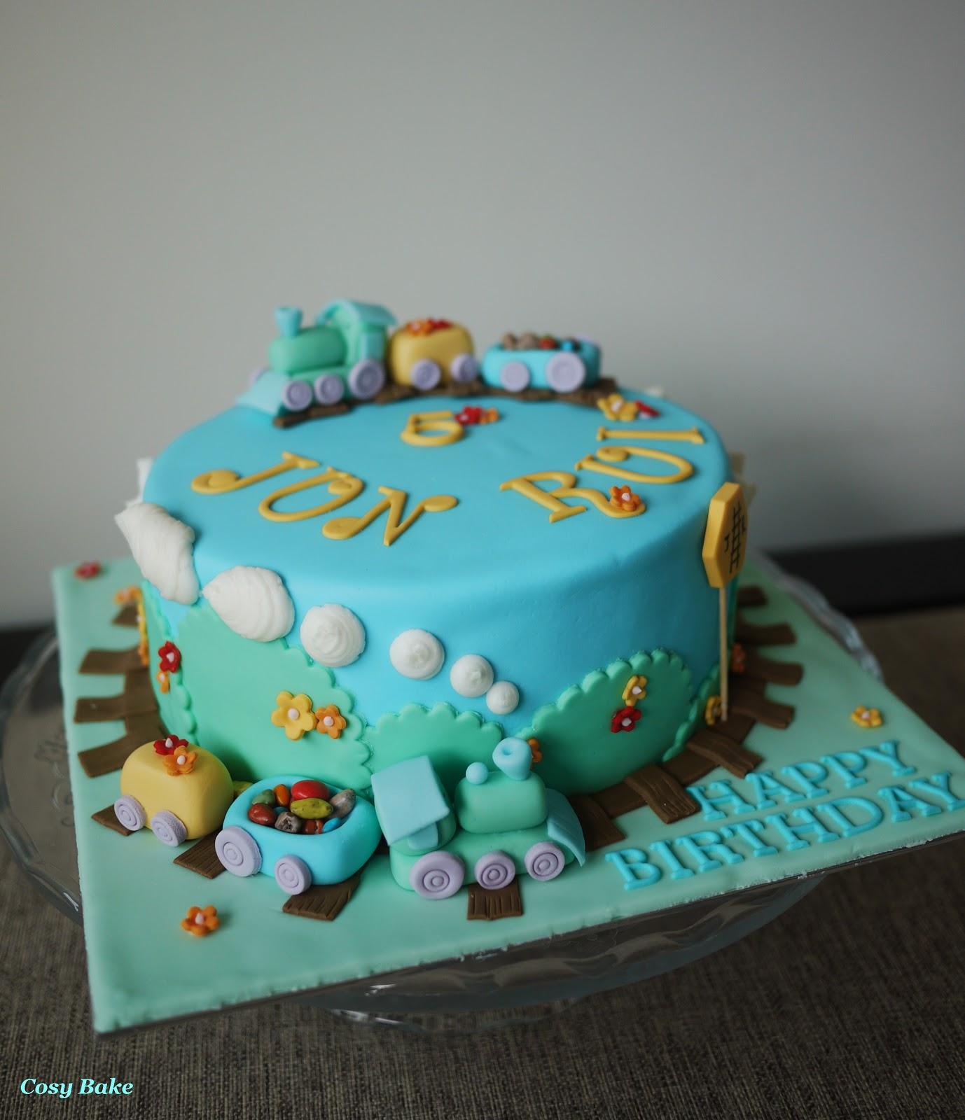 Honey Bun Birthday Cake