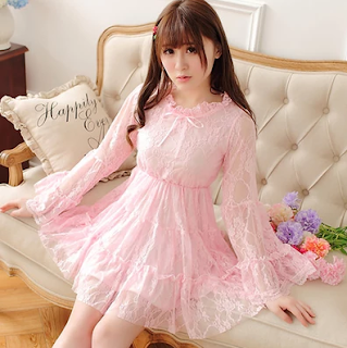 http://fashionkawaii.storenvy.com/products/13131021-japanese-sweet-bowknot-horn-sleeve-lace-dress
