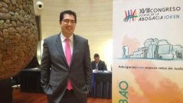 El presidente de la Asociación de Jóvenes Abogados españoles, David Díez Revilla.