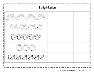 St. Patricks Day Kindergarten Tally Marks