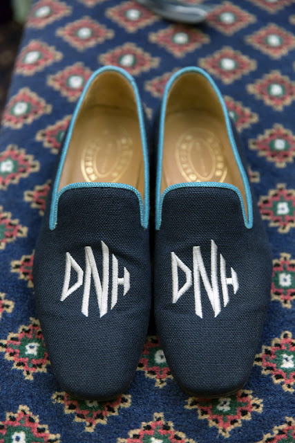 Monogrammed Groom Shoes