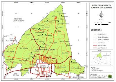 Peta Desa Wisata Kabupaten Sleman