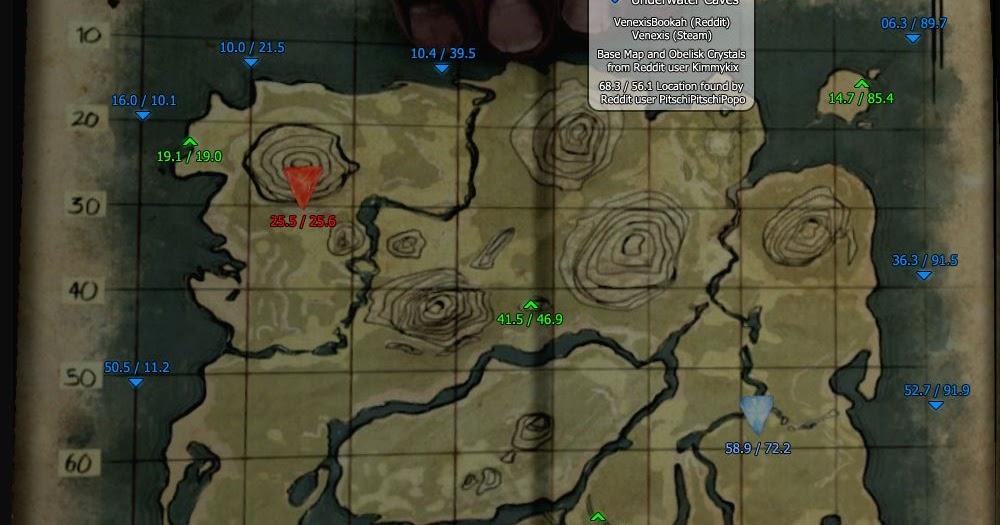 Ark Island Map Oil