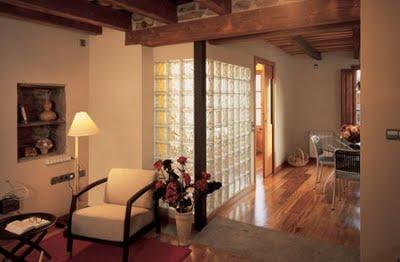 Modernas paredes de vidrio kitchen design luxury homes - Pared de bloques de vidrio ...